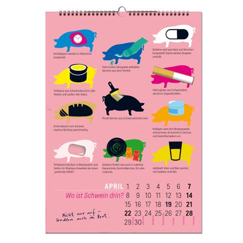 kalender_iss was?! tiere, fleisch & ich. grotrian Boell